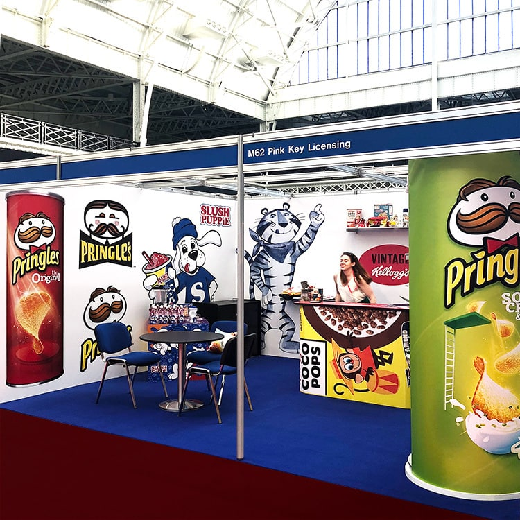 Pink Key Exhibition final design with licensed brands and characters stand