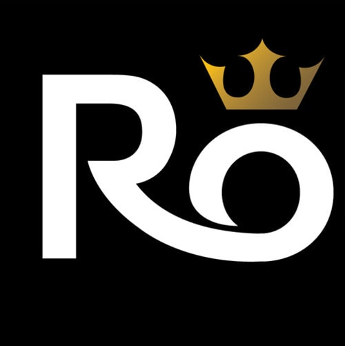Rollking branding design with golden crown above the 'o' Thumbnail