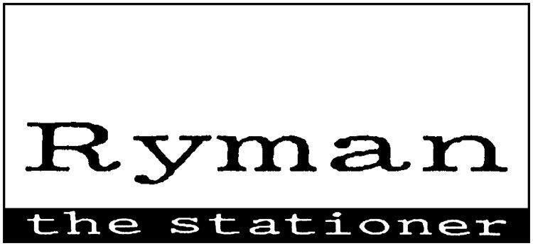 Ryman branding design black and white