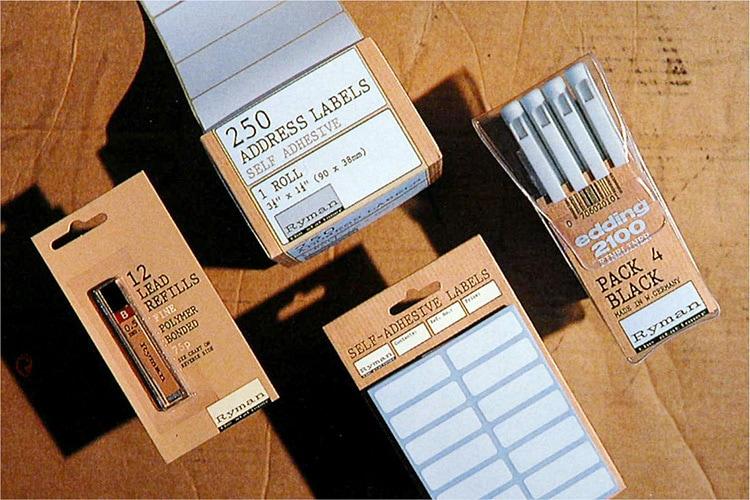 Ryman accessories Packaging design