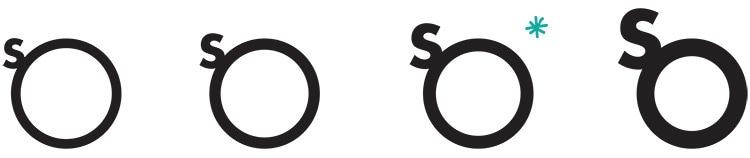 So Drinks branding design development of 'So' logo