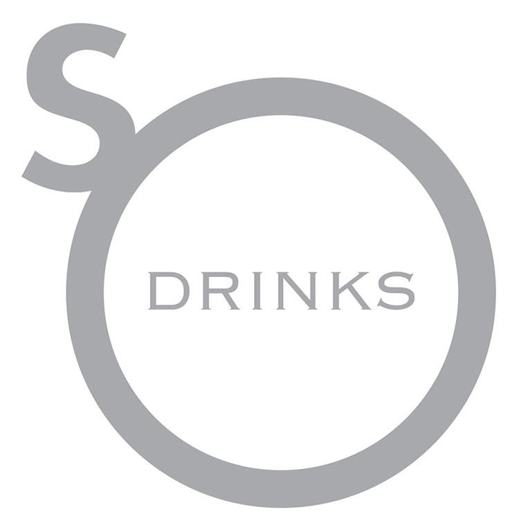 So Drinks logo design white background