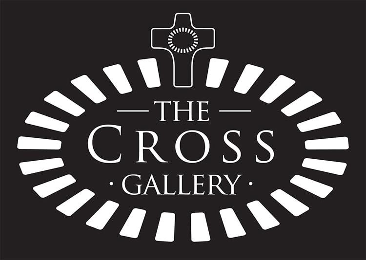 Reversed cross Gallery St Elizabeths sub-brand logo design