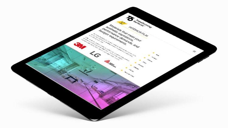 Tablet display homepage of T6 responsive website design