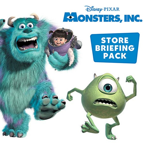 Monsters Inc. briefing pack print design for Tesco Thumbnail