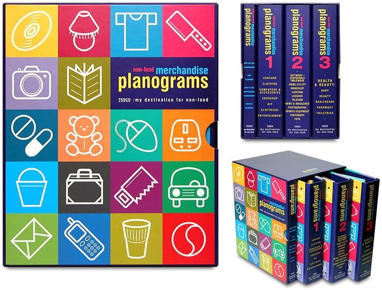 Tesco Merchandise Planogram box print design