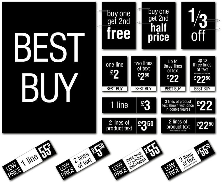 Best buy promotional design materials for Tesco retail stores