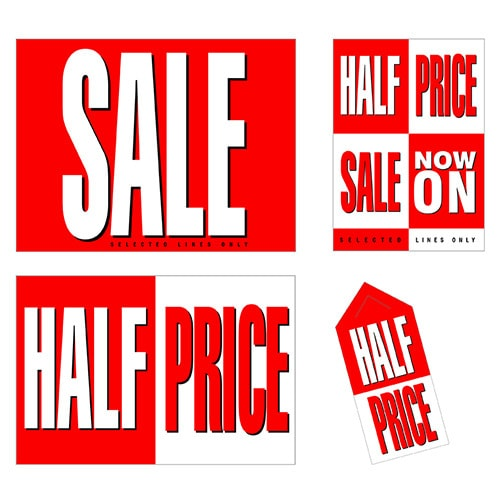 Half Price promotional design materials for Tesco retail stores Thumbnail