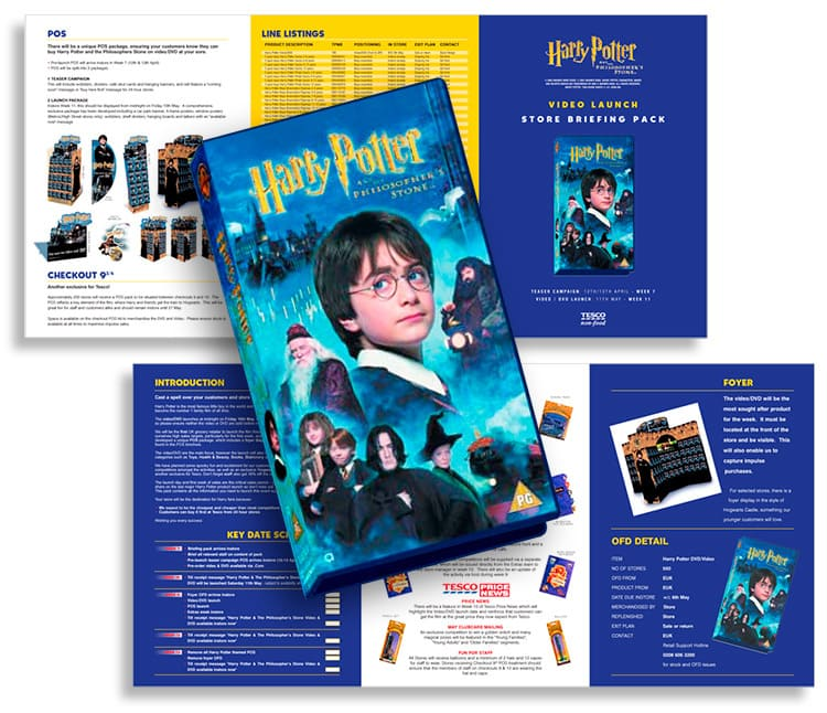 Tesco promotion design for Harry Potter launch