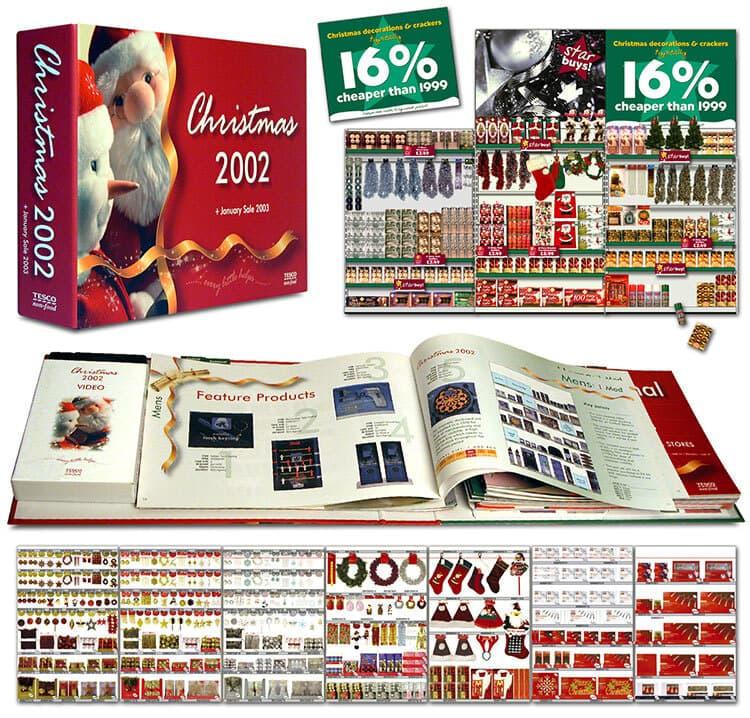 Christmas merchandising planograms retail design for Tesco retail stores