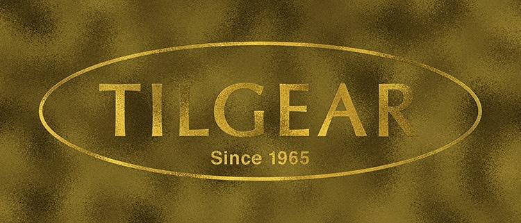 3D Tilgear logo design with a gold foil finish