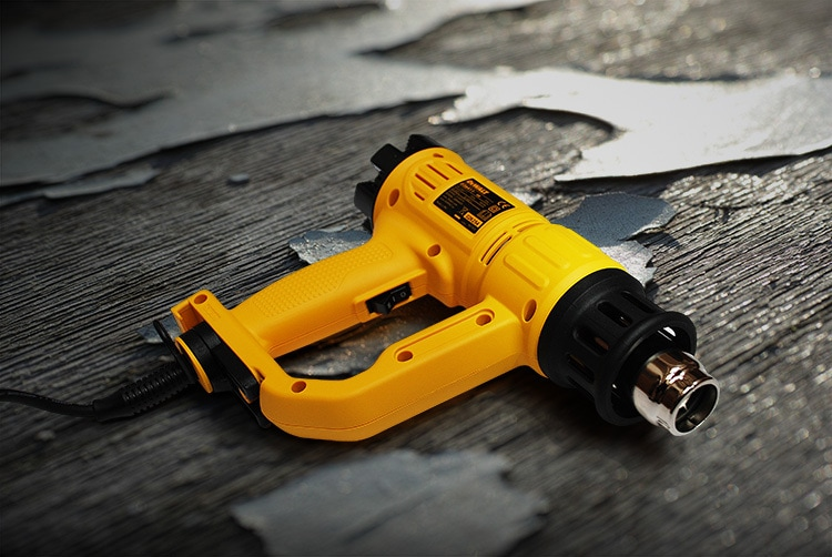 Retouched and enhanced photography of heat gun hand tool for Tilgear