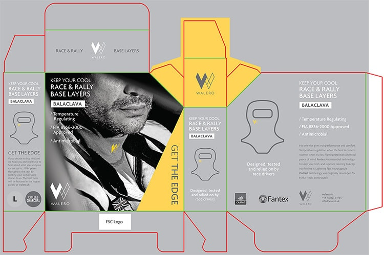 Balaclava Packaging Design for Walero