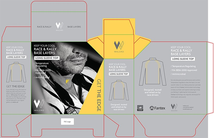 Long sleeve top Packaging Design for Walero