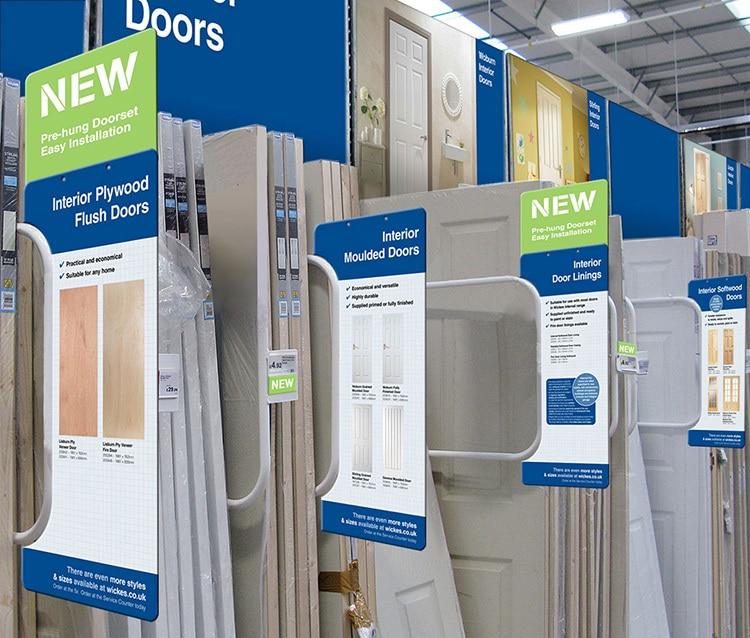 New Interior doors POS design in Wickes retail store