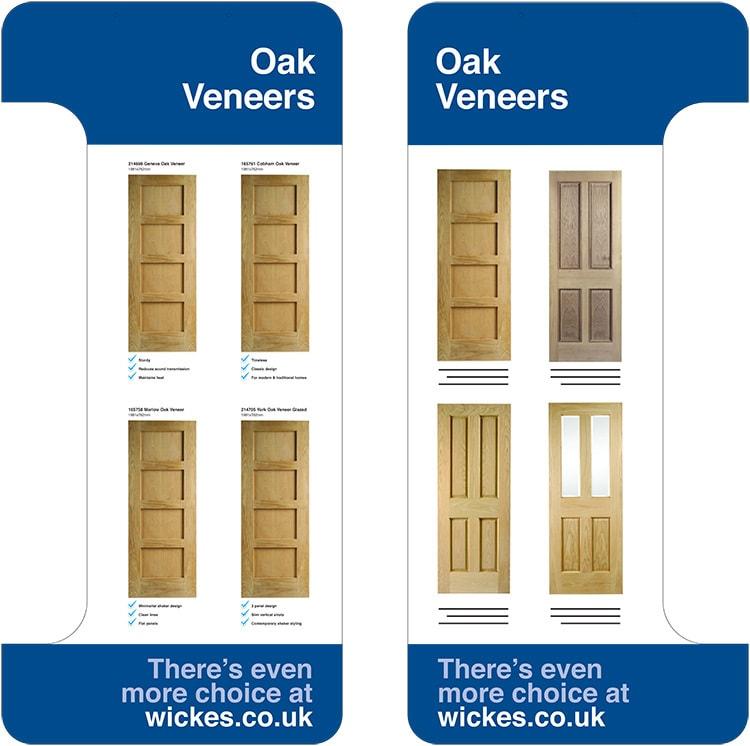 Oak Veneer door shelf dividers for Wickes