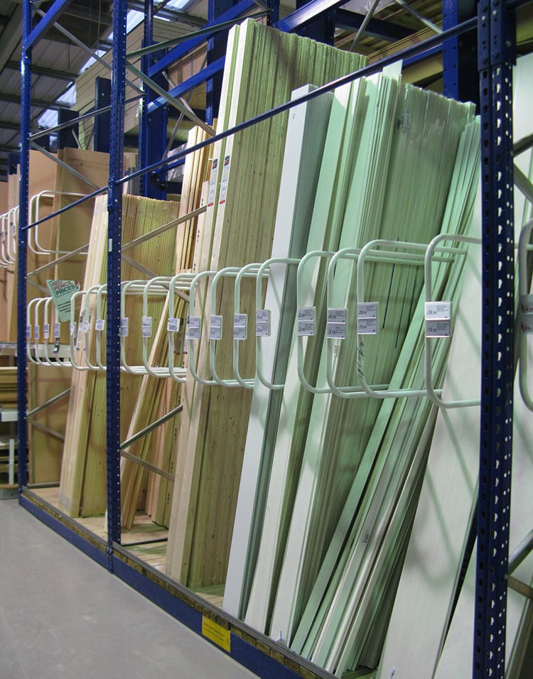 Old mould cladding POS design in Wickes retail store