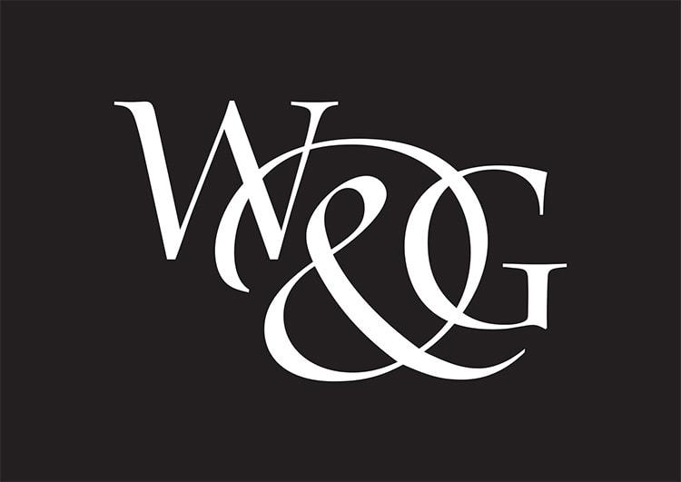 Willis & Gambier reversed portrait logo design