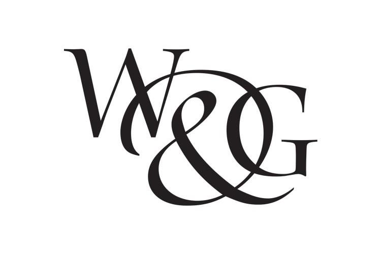 Willis & Gambier black and white portrait logo design