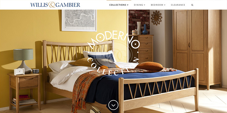 Moderno flat slider for Willis & Gambier website design