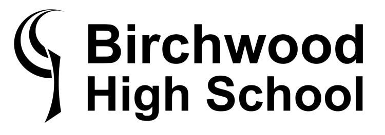 Stacked positive version of Birchwood High School logo
