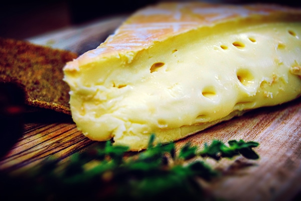 Retouched and enhanced close up of Rollright cheese for Cheese+