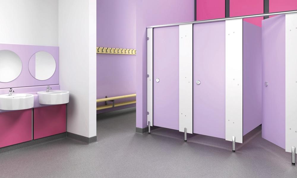 Oiriginal purple bathroom render for Trovex Innovations