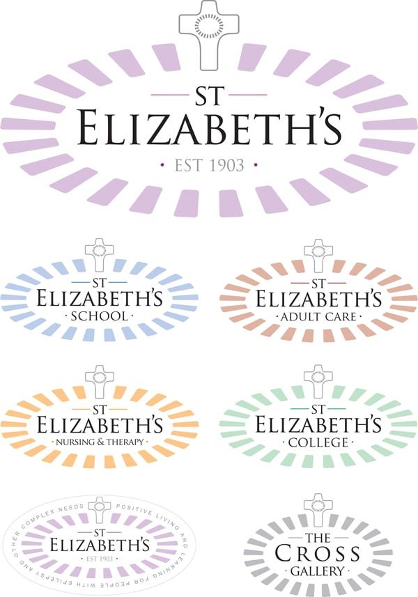 New St Elizabeth's logo design along with sub-brands