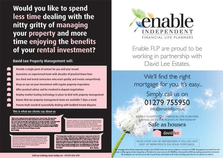Double spread David Lee Estates advertisment promotion design