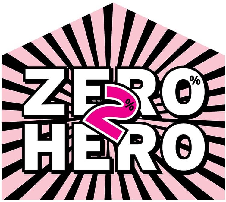 Zero 2 Hero badge promotion design for David Lee Estates