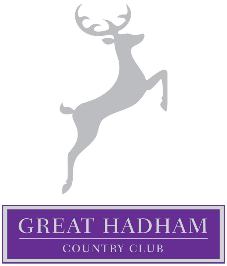 Great Hadham Country Club portrait logo design flat coloured version