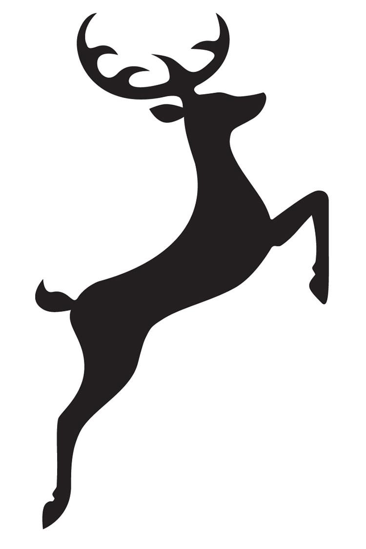 Great Hadham Country Club Branding Design Logo Stag Symbol Black