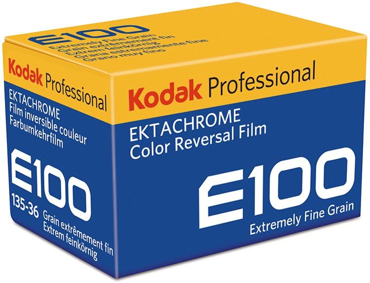 Kodak professional color reversal film box