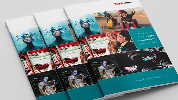 2018 Kodak Print Design Annual Report front cover design stacked