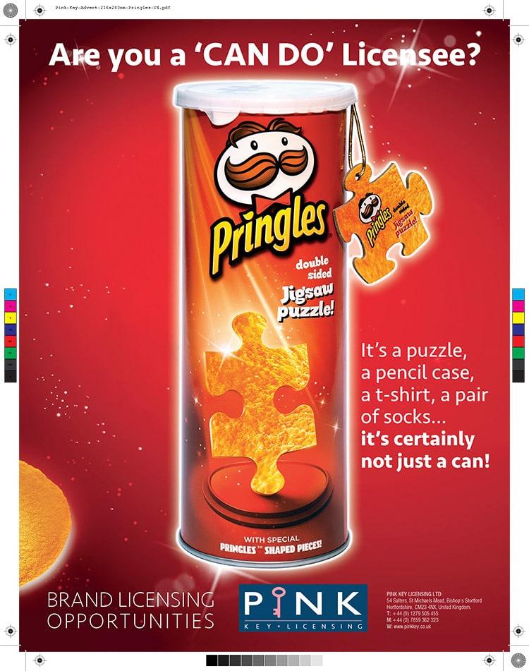 Pringles promotional advert design 2020 for Pink Key