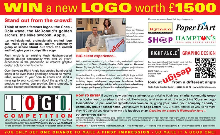 Observer Branding Competition Article for Right Angle Creative