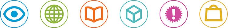 Right Angle Creative set of symbols for disicplines