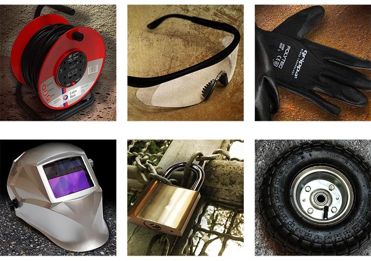Grid of workshop equipment photography for Tilgear