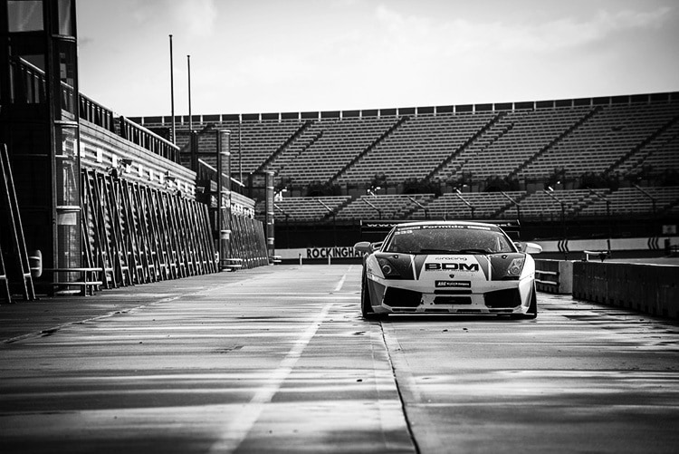 Racecar on track photography for Walero