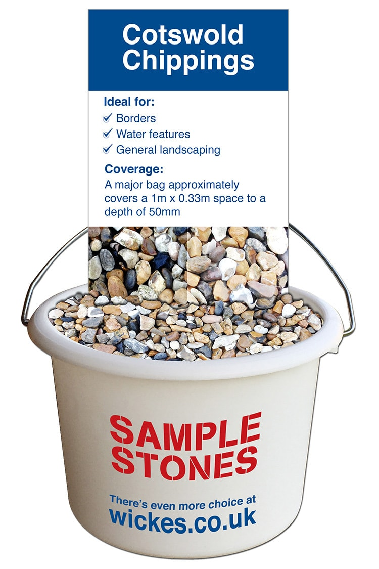 Sample stones POS graphic design for Wickes retail stores