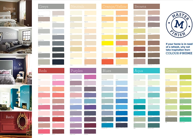 Colour charts design for Wickes retail store