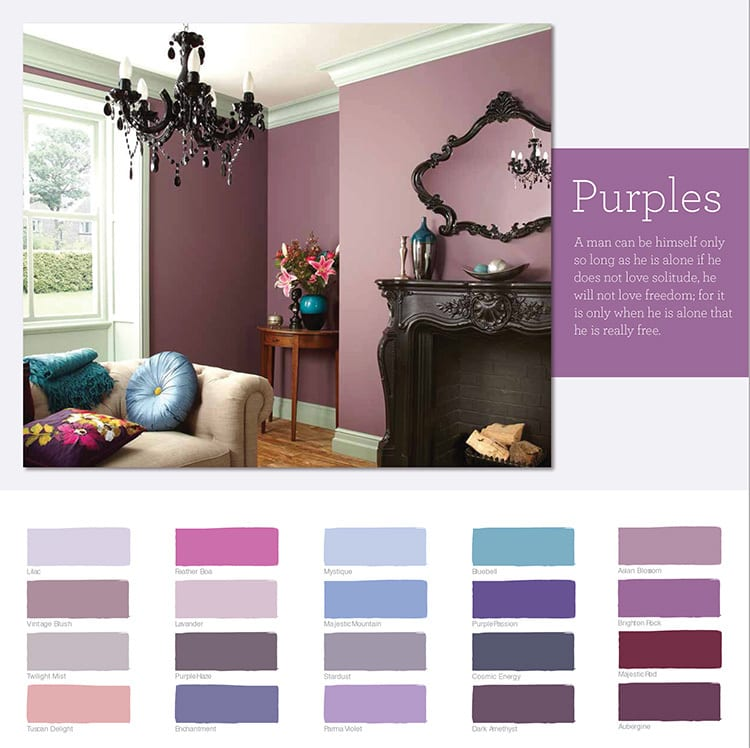 Purple colour chart design for Wickes retail store