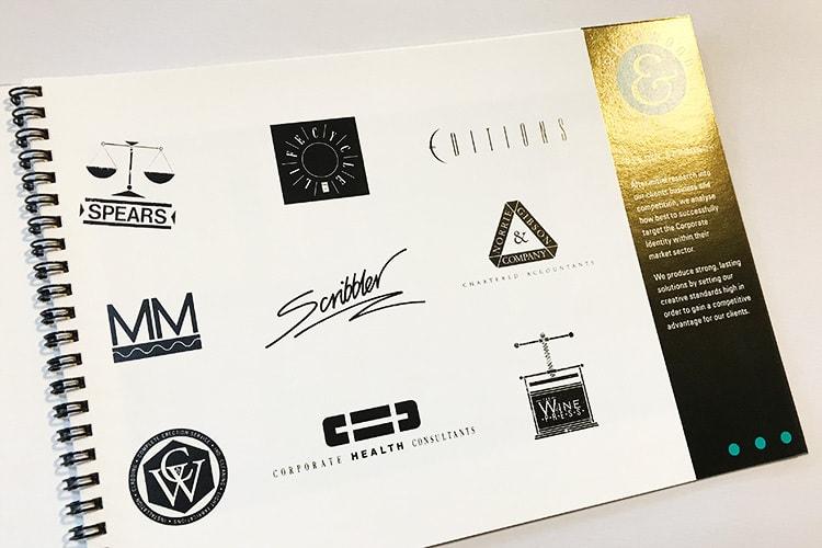 Isherwood Brochure design showing client logos
