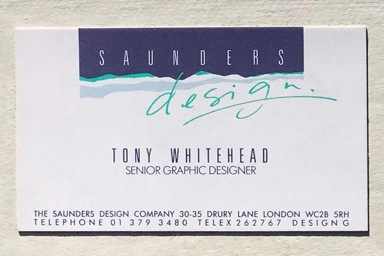 Saunders front business card design