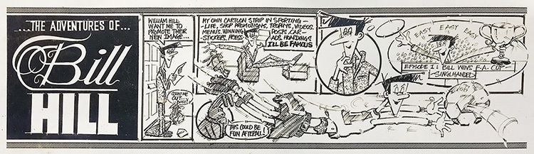 Cartoon Strip hand-drawn illustration for William Hill