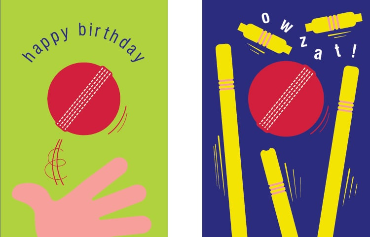 Cut Above Cricket Greetings Card for Paper D'Art