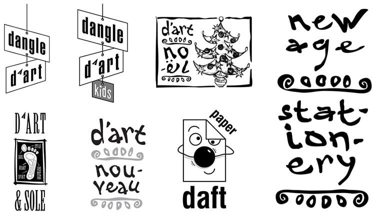 Paper D'art sub branding examples