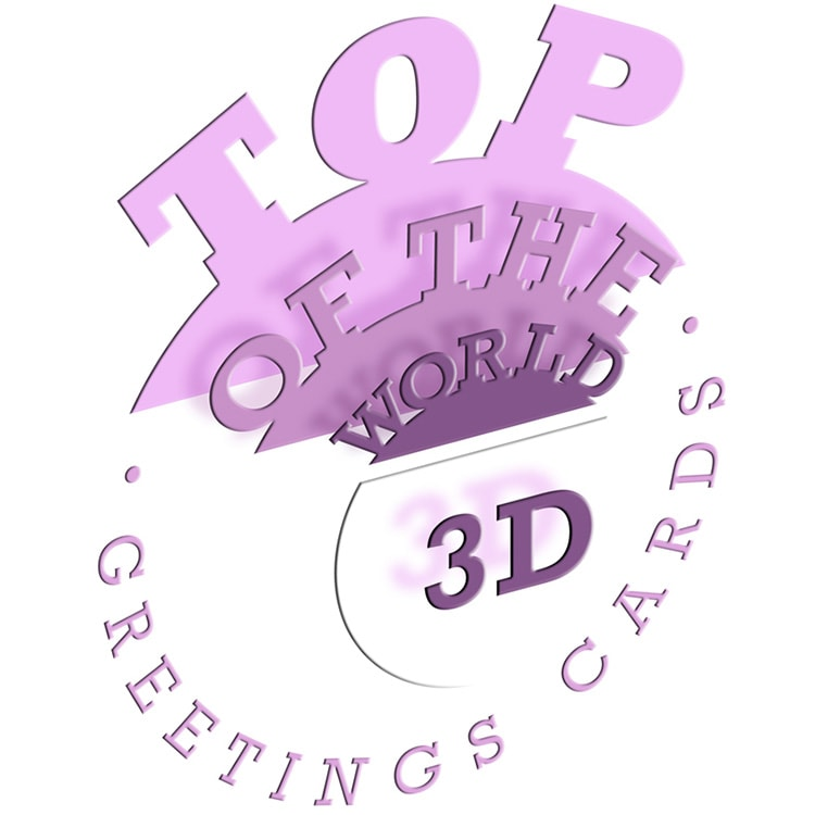 3D cards brand 'Top of the World' for Paper D'Art