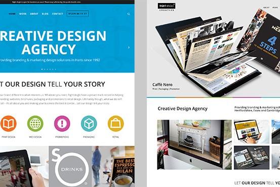 Old v New Right Angle Creative Website