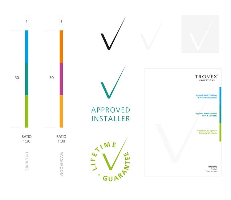 Branding elements for Trovex Innovations branding